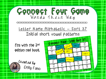 Words Their Way - Letter Name Alphabetic - Sort 37 Connect Four