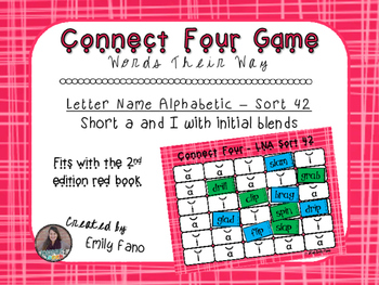 Words Their Way - Letter Name Alphabetic - Sort 42 Connect Four