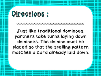 Words Their Way - Letter Name Alphabetic - Sort 46 Dominoes