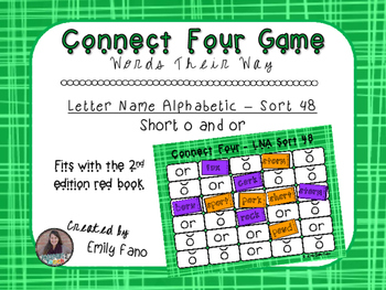 Words Their Way - Letter Name Alphabetic - Sort 48 Connect Four