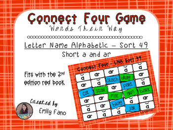 Words Their Way - Letter Name Alphabetic - Sort 49 Connect Four