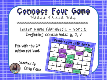 Words Their Way - Letter Name Alphabetic - Sort 5 Connect Four