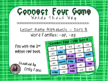 Words Their Way - Letter Name Alphabetic - Sort 8 Connect Four