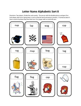 Words Their Way Letter Name Alphabetic Sort 8 Game