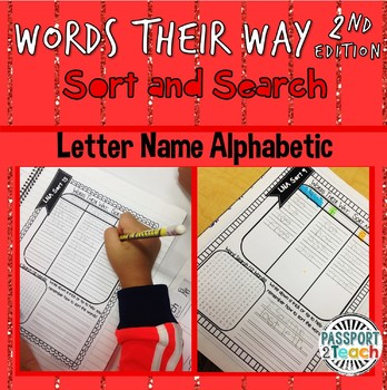 Words Their Way - Letter Name Alphabetic Sort and Search