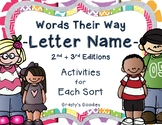 Words Their Way: Letter Name Alphabetic - NO PREP ACTIVITI