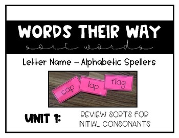 Words Their Way - LNAS Sort Words Unit 1