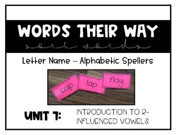 Words Their Way - LNAS Sort Words Unit 7