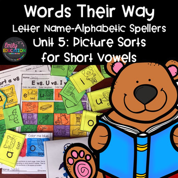 Words Their Way Letter Name Alphabetic Spellers Unit 5 Pictures for Short Vowels