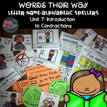 Words Their Way Letter Name Alphabetic Spellers Unit 8 Contractions