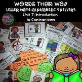 Words Their Way Letter Name Alphabetic Spellers Unit 8 Con