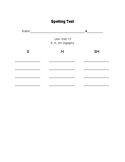 Words Their Way- Letter Name Alphabetic-Spelling Test Forms