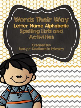 Words Their Way - Letter Name Alphabetic Stage - Spelling Lists
