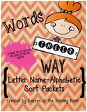 Words Their Way Letter Name Alphabetic Word Sort Packets
