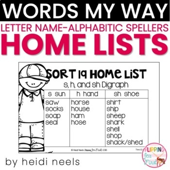 Words Their Way Letter Name-Alphabetic Spellers Home Lists