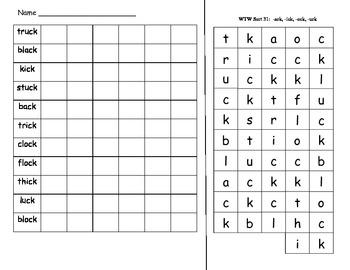 Words Their Way Letter Name Sort 31 Activities