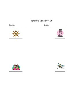Words Their Way Letter Name Spelling Homework and Quiz for Sorts 26-50