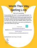 Words Their Way Letter Name Spelling Words for Sorts 21-50