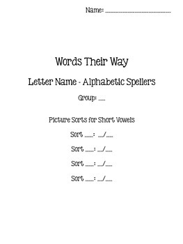 Words Their Way - Letter Name/Alphabetic Spellers - Sort 34-47 {sort book}