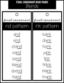 Final Consonant Spelling Pattern