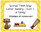 Words Their Way - Letter Naming Sort 6 - Extra Resources