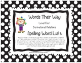 Words Their Way Level Four Derivational Relations  Spellin