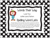 Words Their Way Level Two Within Word Pattern Spelling Lists