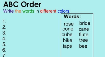 Words Their Way Long-Vowel Review