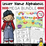 Word Study Games & Worksheets - Letter Name Alphabetic MEGA BUNDLE