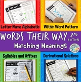 Words Their Way - 2nd Edition - Matching Meaning Packet
