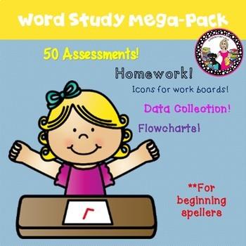 Word Study MEGA PACK for Beginning Spellers! SET 1
