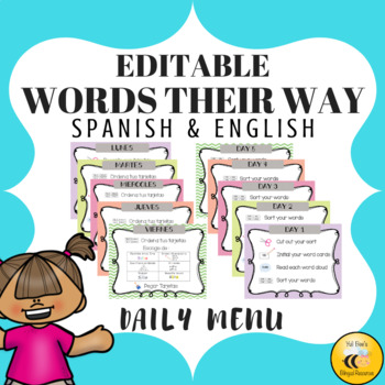 Words Their Way Menu {Spanish & English}