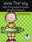 Words Their Way Note-Taking Guides & Quizzes - Derivationa