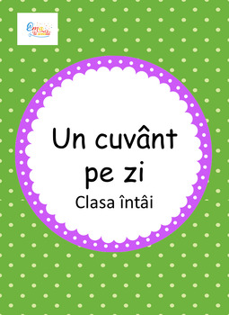 First Grade Word of the Day in Romanian