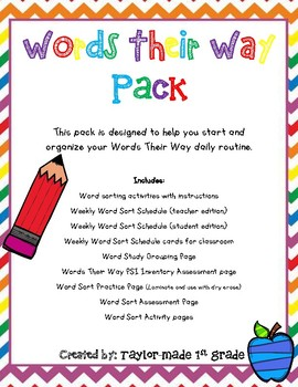Words Their Way Pack