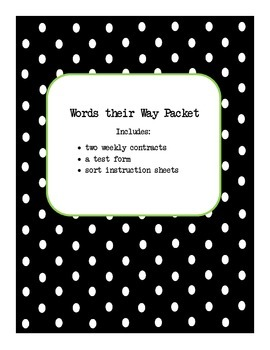 Words their Way Packet