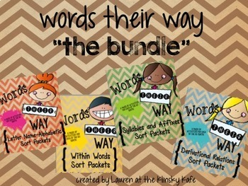Words Their Way Packets Bundle