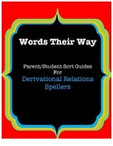 Words Their Way Parent/Student Sort Guides, Blue Book