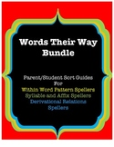 Words Their Way Parent/Student Sort Guides, Bundle: Yellow/Green/Blue Books