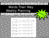 Words Their Way Planning Template