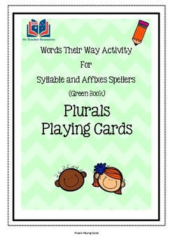 Words Their Way Plurals Playing Cards