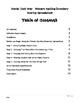 Words Their Way - Primary Spelling Inventory Scoring Spreadsheet