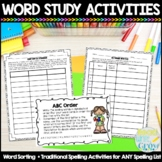 Words Their Way Printable Spelling & Sorting Activities