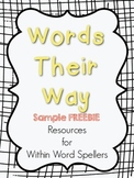 Words Their Way Resources Sample FREEBIE- Within Word Sort #6 (Yellow Book)