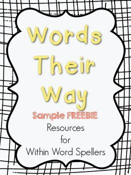 Words Their Way Resources Sample FREEBIE- Within Word Sort