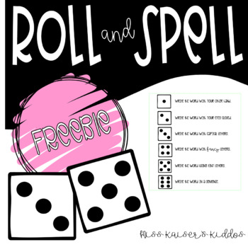 Words Their Way - Roll & Spell Activity