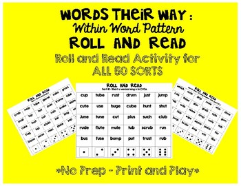 Words Their Way Roll and Read