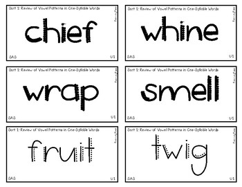 Words Their Way - SAS Sort Words Unit 1