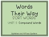 Words Their Way - SAS Sort Words Unit 2