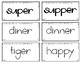 Words Their Way - SAS Sort Words Unit 3